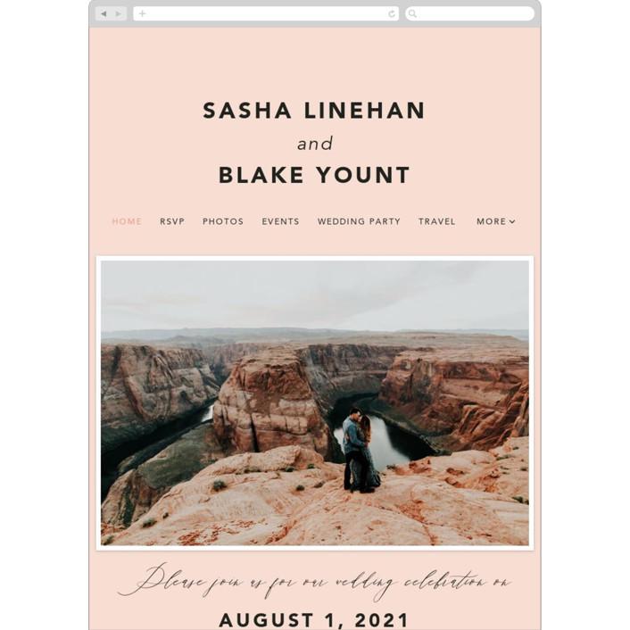 """Love Affair"" - Wedding Websites in Blush by Susan Brown."