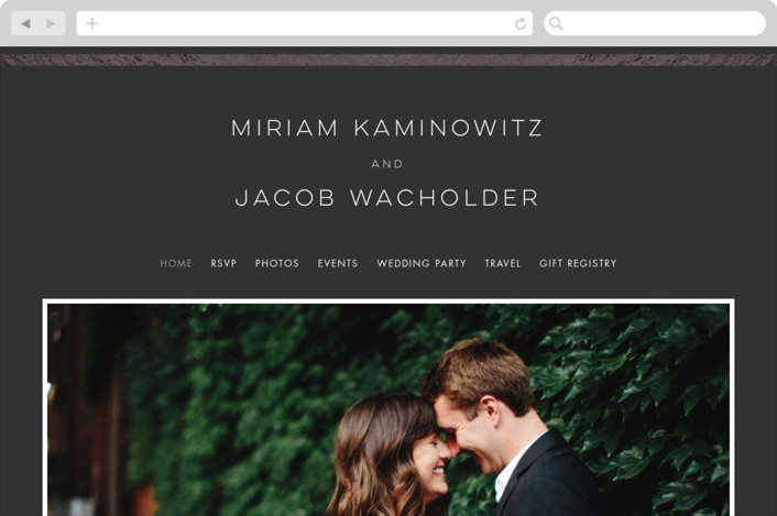 """""""Smash the Glass"""" - Wedding Websites in Tuxedo by Laura Bolter Design."""