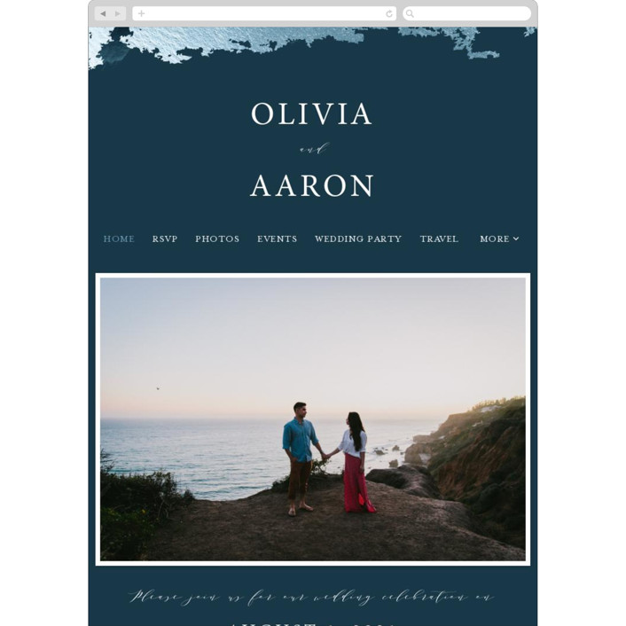 """Gilded Oceans"" - Wedding Websites in Ocean by Christie Garcia."