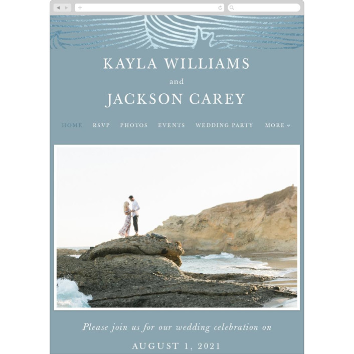 """""""romantic waves"""" - Wedding Websites in Ocean by Angela Garrick."""