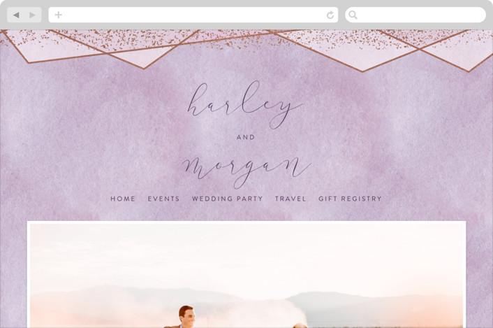 """Amethyst Watercolor"" - Wedding Websites in Amethyst by Hooray Creative."