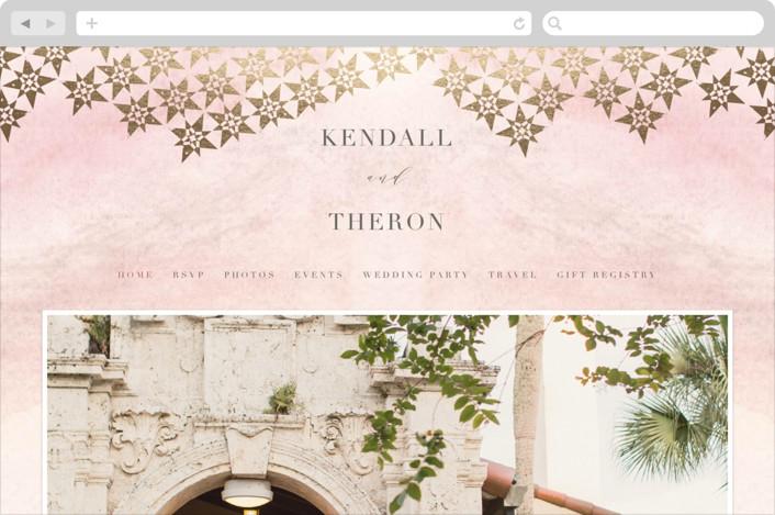 """distressed tile"" - Wedding Websites in Blush by Carolyn Nicks."