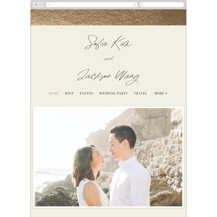 """""""Hand notes"""" - Wedding Websites in Cream by Yaling Hou Suzuki."""