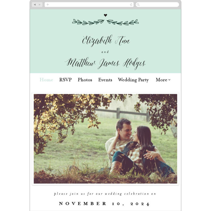 """Always"" - Wedding Websites in Mint by Susan Brown."