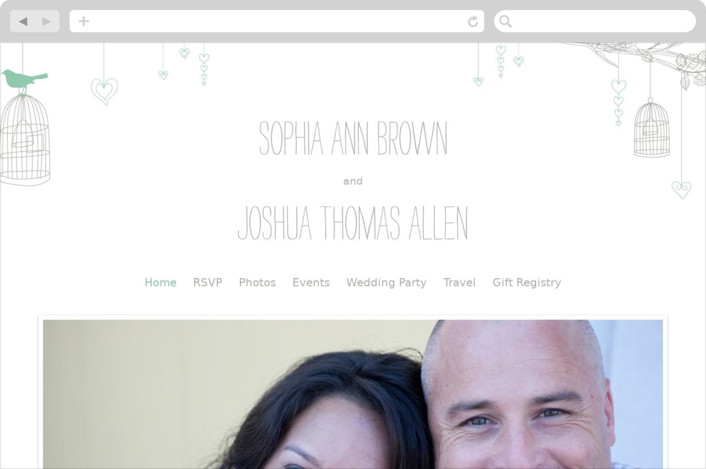 """Love Let Loose"" - Whimsical & Funny, Rustic Wedding Websites in Seaglass by Paisley Tree Press."