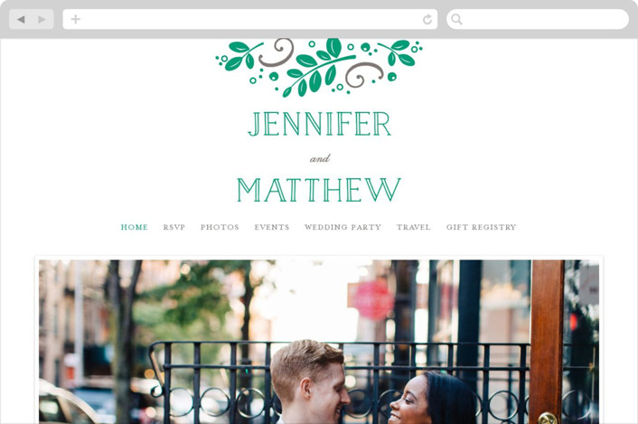 This is a green wedding website by Jessica Williams called Botanical printing on digital paper.