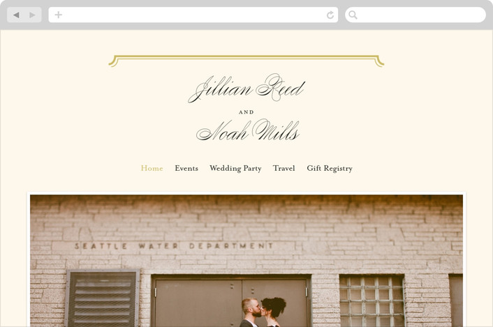 """Modern Classic"" - Wedding Websites in Golden Bear by annie clark."