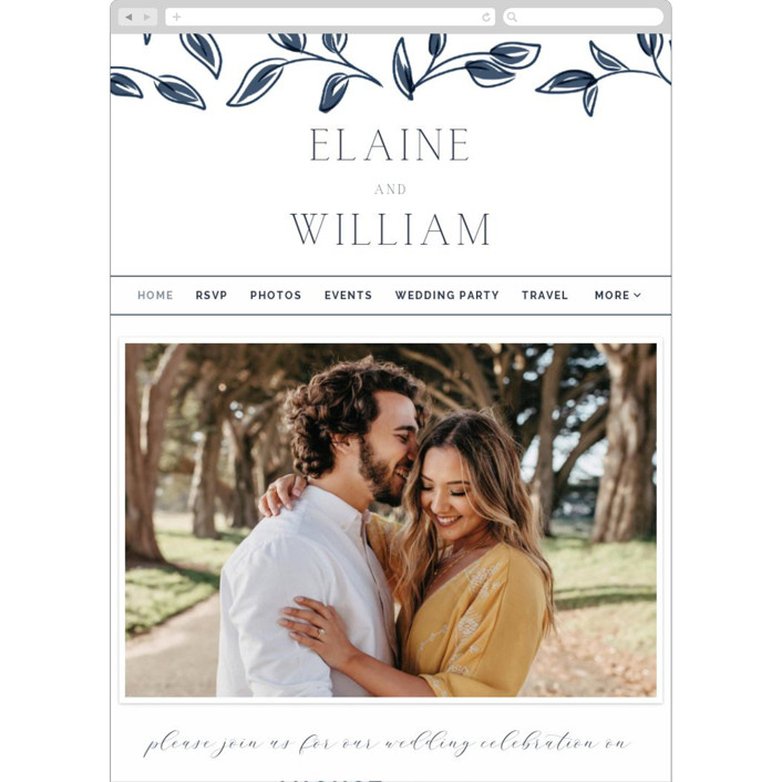 """""""Forever Intertwined"""" - Wedding Websites in Navy by Lindsay Stetson Thompson."""