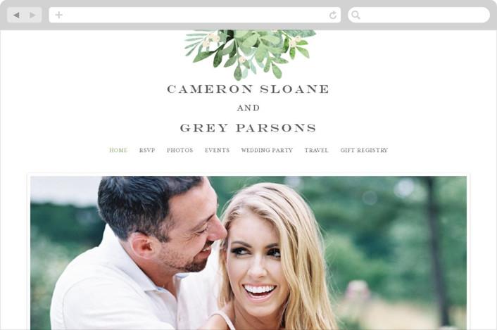 """""""Leafy ampersand"""" - Wedding Websites in Mint Leaf by Jennifer Wick."""