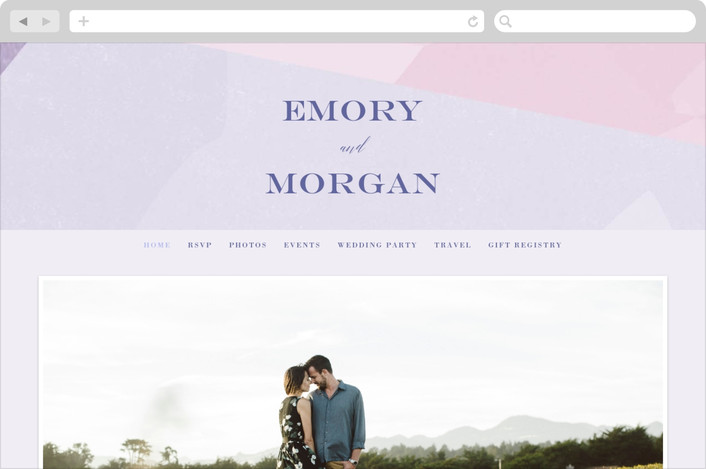 """wash of color"" - Wedding Websites in Lilac by Karidy Walker."
