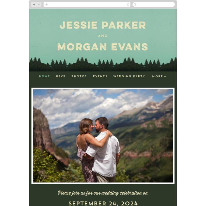"""""""Mountain View"""" - Wedding Websites in Forest by Nam Bourassa."""