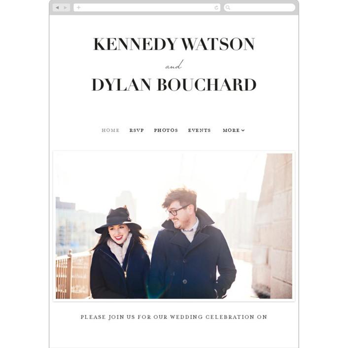 """The Minimalist"" - Wedding Websites in Pearl by Kelly Schmidt."