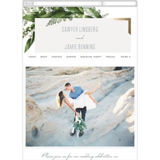 This is a green wedding website by Leah Bisch called Diamante printing on digital paper in standard.