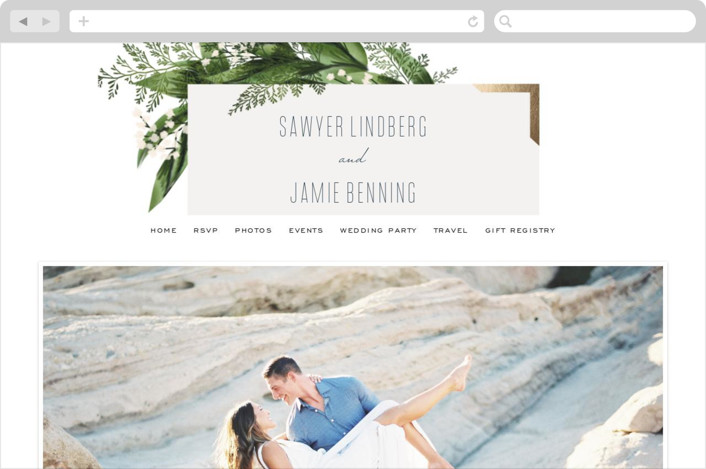 This is a green wedding website by Leah Bisch called Diamante printing on digital paper.