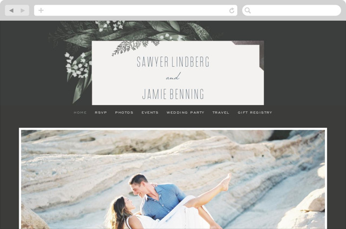 This is a black wedding website by Leah Bisch called Diamante printing on digital paper.