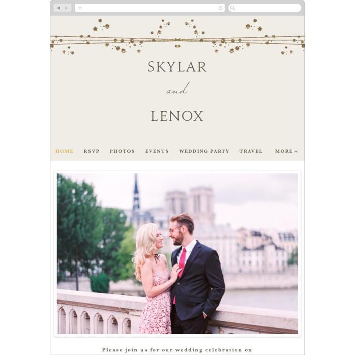 """Tiara"" - Wedding Websites in Ivory by Tatiana Nogueiras."