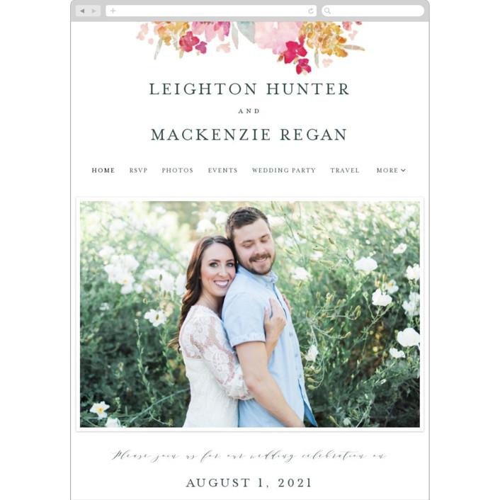 """Spring Garden"" - Wedding Websites in Petal by Grace Kreinbrink."