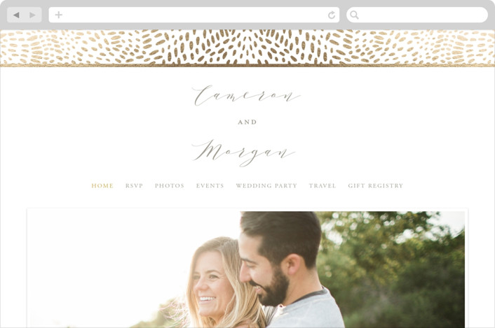 """Lovely Beginning"" - Wedding Websites in Champagne by Oscar & Emma."