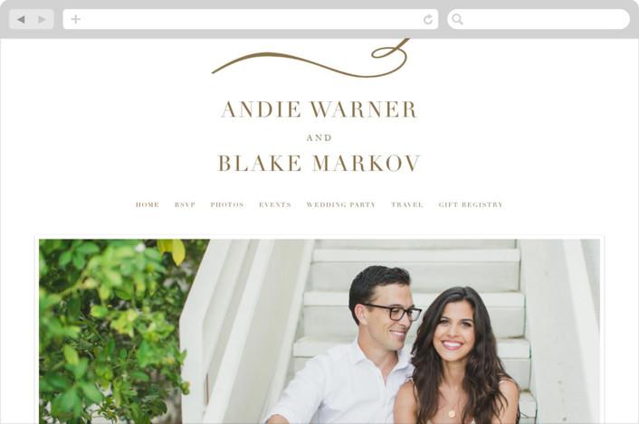 """divine"" - Wedding Websites in Gilded Gold by Jennifer Postorino."