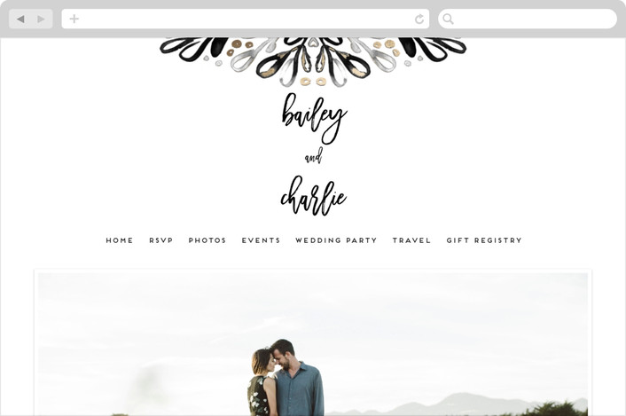 """Chic Glow"" - Wedding Websites in Frost by Simona Camp."