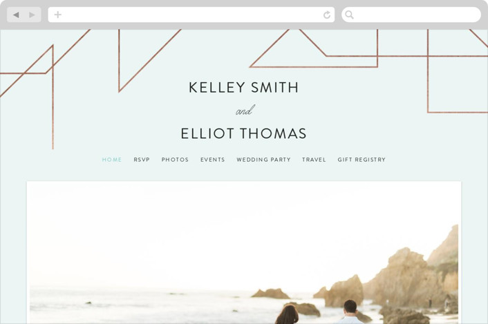 """Garbo"" - Wedding Websites in Mint by carly reed walker."