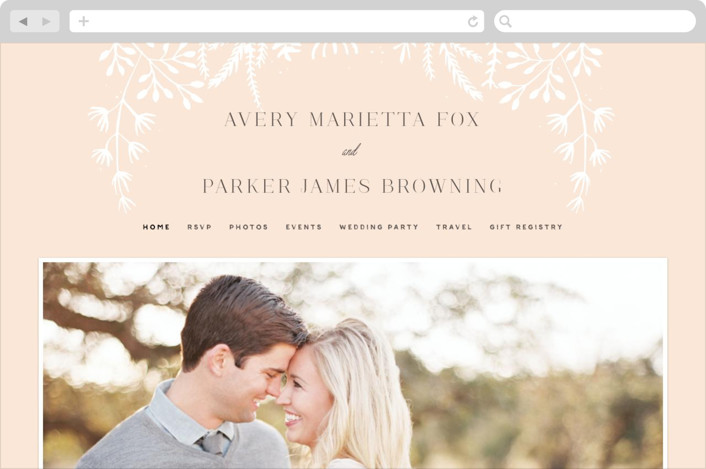"""Wild and Free"" - Wedding Websites in Ballet Slipper by Design Lotus."