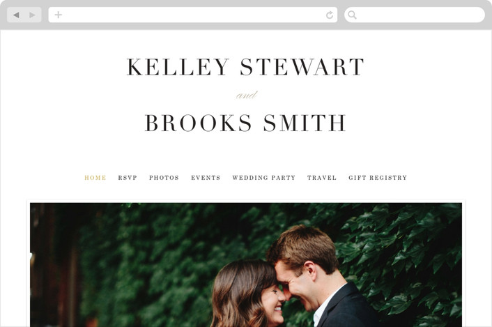 """Elegant Initials"" - Wedding Websites in Ivory by Kelly Schmidt."