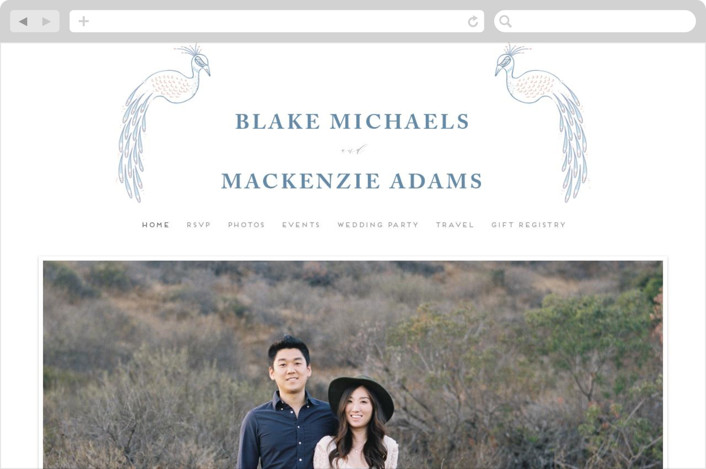 This is a white wedding website by chocomocacino called cicogne printing on digital paper.