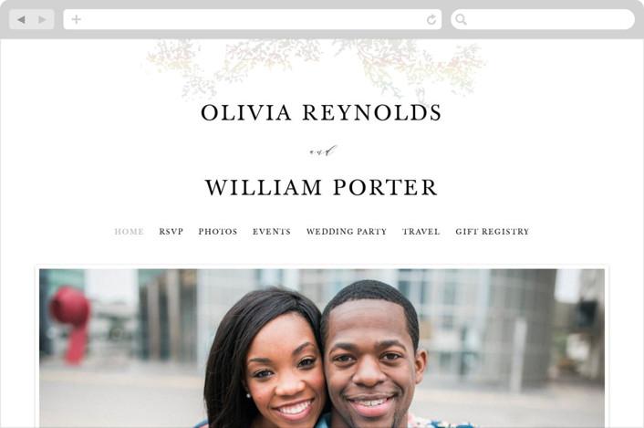 """Olivia"" - Wedding Websites in Opal by Hannah Williams."