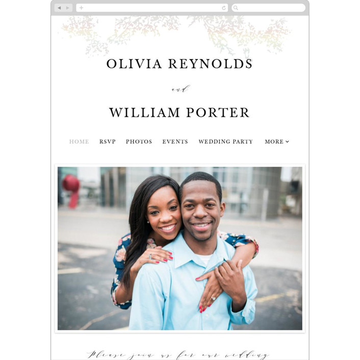 """Olivia"" - Wedding Websites in Opal by Hannah Williams."