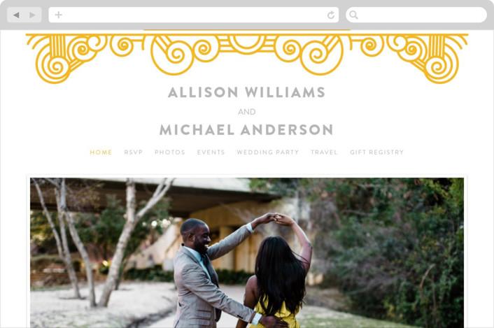 """Deco Swirls"" - Wedding Websites in Dandelion by Mai Jimenez."