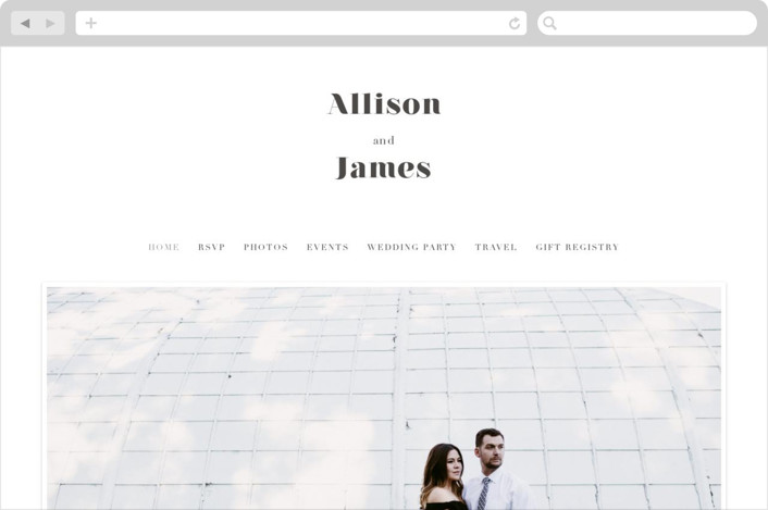 This is a grey wedding website by ASQ Studio called Modern Love printing on digital paper.
