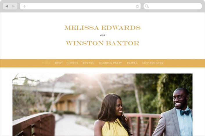"""""""My Type"""" - Wedding Websites in Dandelion by lena barakat."""