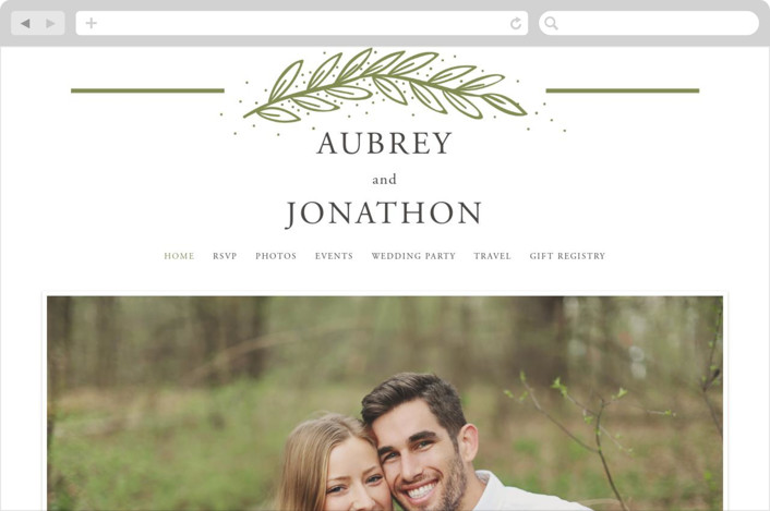 """Winter's Frame"" - Wedding Websites in Pistachio by Oma N. Ramkhelawan."