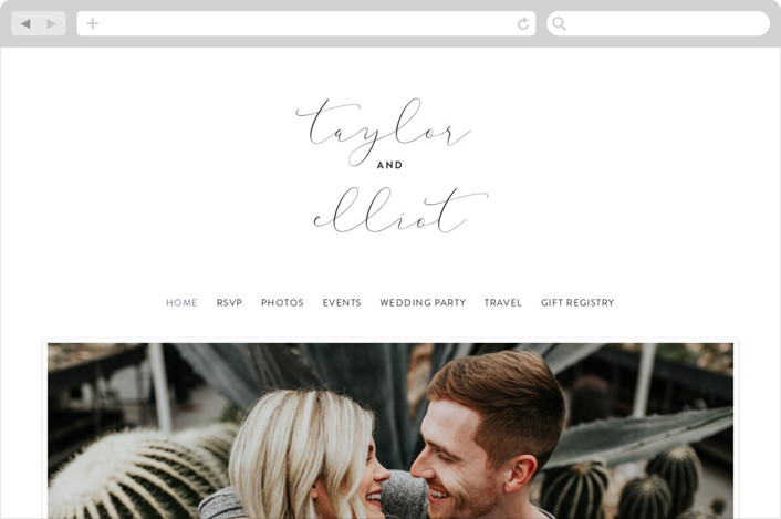 This is a black wedding website by Kristie Kern called Simple Statement printing on digital paper.