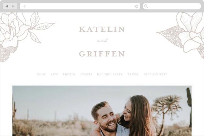 """""""Botanical Garden"""" - Wedding Websites in Cement by Kaydi Bishop."""