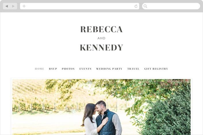 """austerity"" - Wedding Websites in Soft Black by Halik Helen."