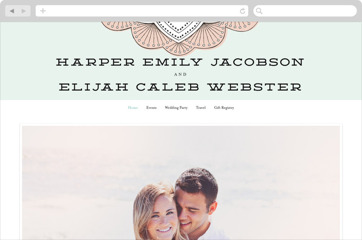 """Striped Sweet Nothings"" - Wedding Websites in Romantic by Frooted Design."