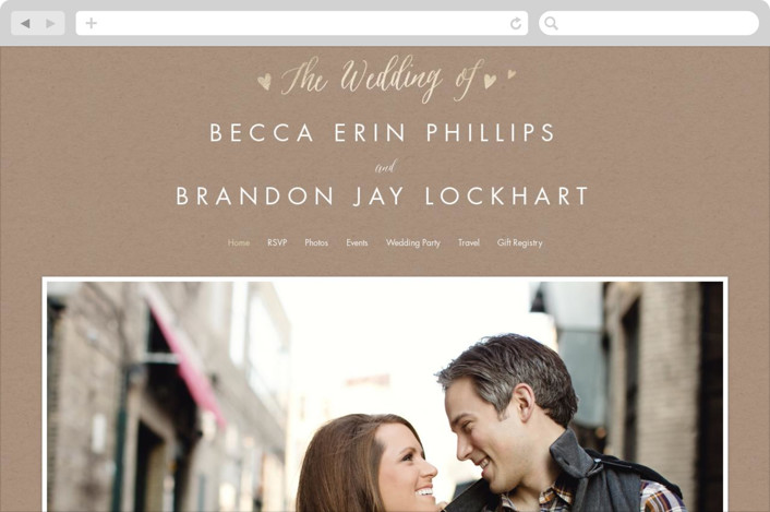 """Charming Love"" - Wedding Websites in Kraft by Melanie Severin."