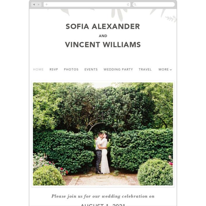 """Garden"" - Wedding Websites in Silk by Joyce Pinheiro."