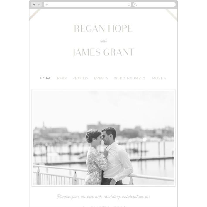 """Brilliant Cut"" - Vintage Wedding Websites in Diamond by Meggy Masters."