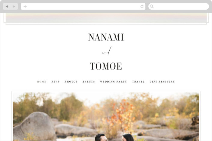 """Modern Vows"" - Wedding Websites in Linen by Jennifer Lew."