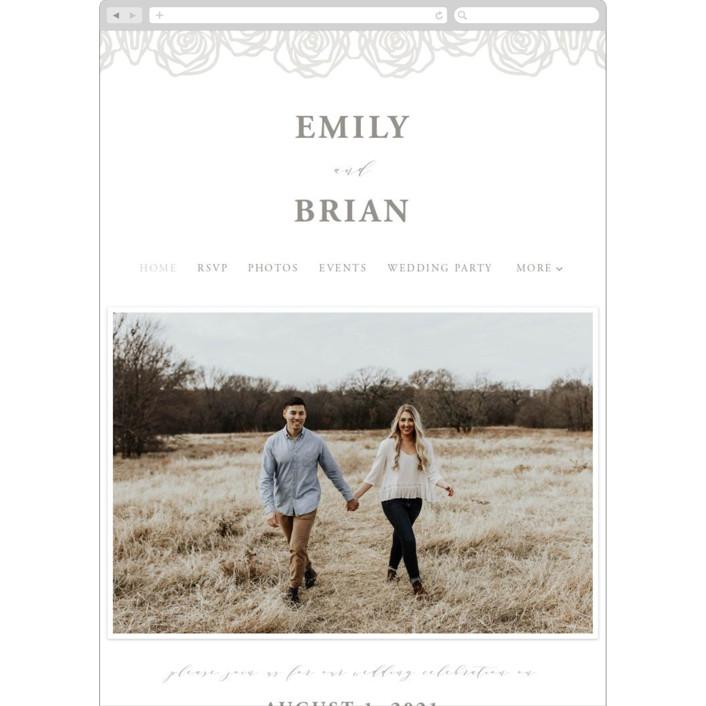"""""""Rose Box"""" - Wedding Websites in Natural by Melinda Denison."""