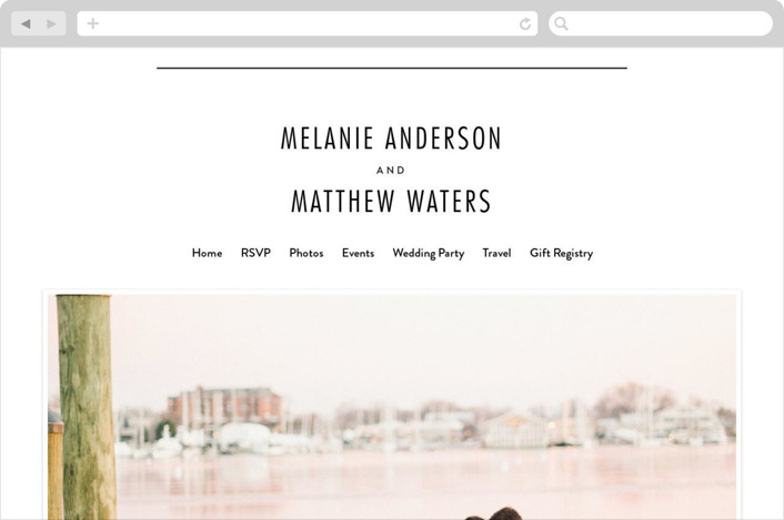 """Between The Lines"" - Modern Wedding Websites in Blazer by Fine and Dandy Paperie."