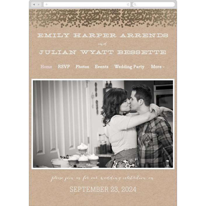 """""""Gold Rush"""" - Wedding Websites in Kraft by Annie Clark."""