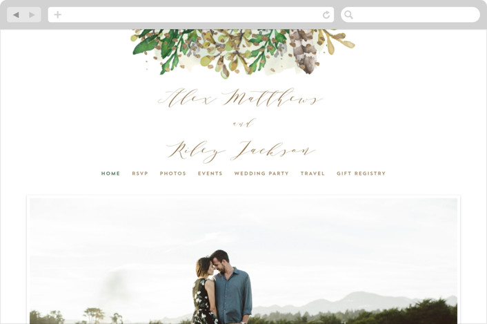 """Bohemian Beauty"" - Wedding Websites in Garden by AK Graphics."