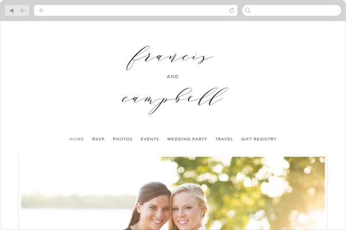 """Simple Elegance"" - Wedding Websites in Tuxedo by Phrosne Ras."