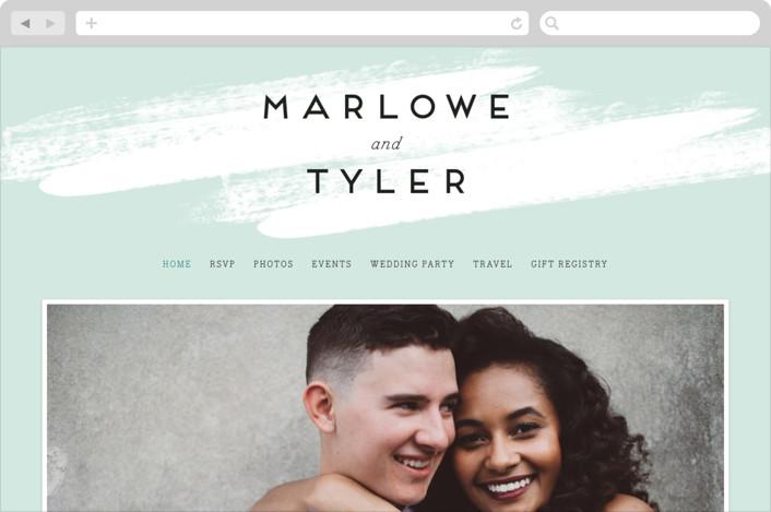 """Museum quality"" - Wedding Websites in Mint Leaf by Jennifer Wick."