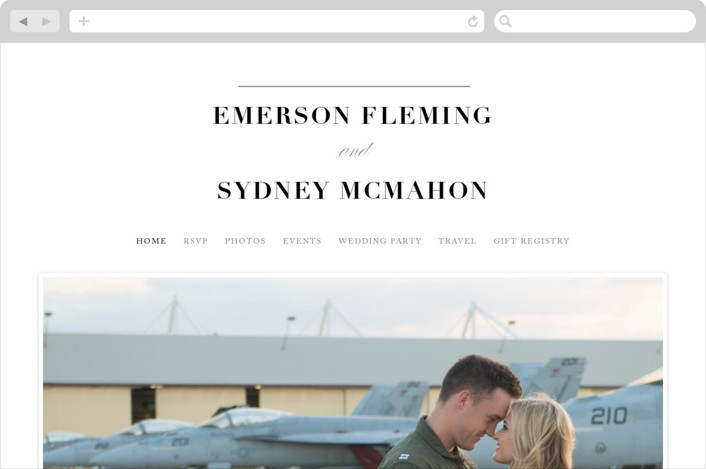 """Semiformal"" - Wedding Websites in Pebble by Kimberly FitzSimons."