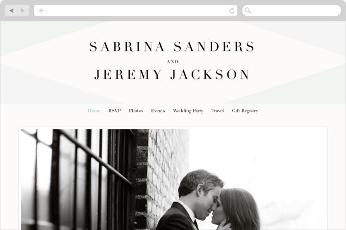"""Creme Brulee"" - Wedding Websites in Mint by chocomocacino."